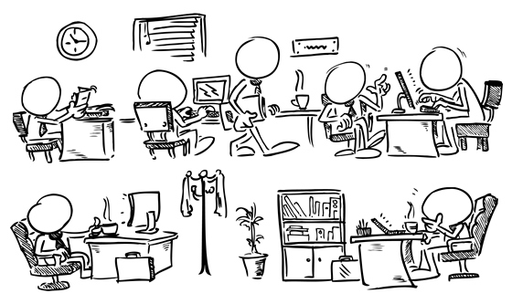 Image gallery travailler for Idee pour travailler chez soi